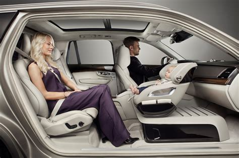 baby seat replaces front passenger seat in volvo