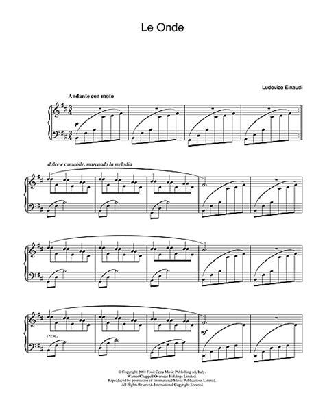 i giorni free printable sheet music le onde sheet music by ludovico einaudi piano 31982