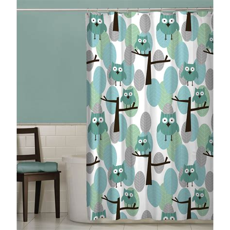 Simple Shower Curtains Simple Bathroom With Maytex Owl Cloth Shower Curtain And