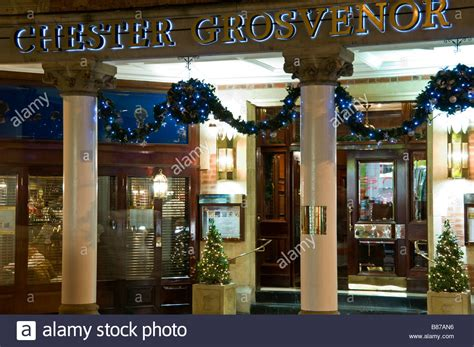 the chester grosvenor hotel at christmas chester