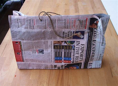 How To Make Paper Bags With Newspaper - how to make recycled bags and used paper