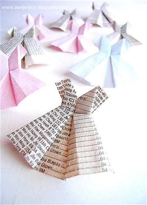 How To Fold Origami Dress - paper dress folding scrapbooking