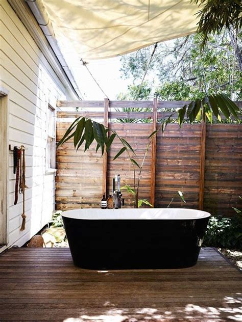 outside bathrooms outdoor bathing bliss the style files