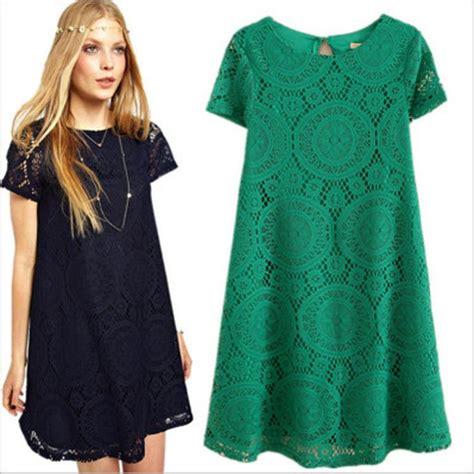 Dress Import White L Xl plus size dress casual hollow out lace