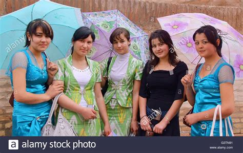 women uzbek stock photos women uzbek stock images alamy portrait of uzbek young women on a rainy day in khiva