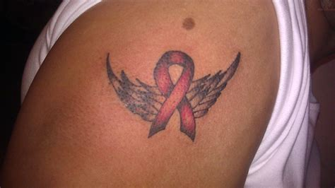 aids ribbon tattoo designs cancer tattoos images search