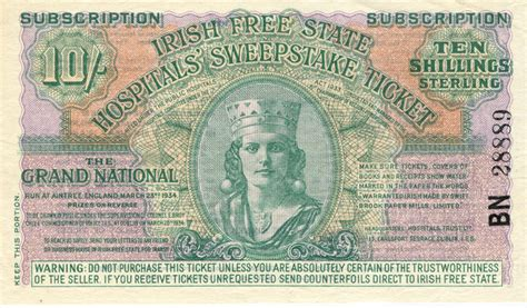 1934 irish sweepstakes tickets - Irish Sweepstakes