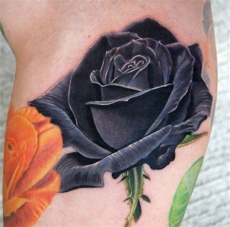 black and blue rose tattoo 30 black designs images and picture ideas