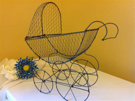 Wire Baby Carriage Centerpiece Antique Baby Carriage Baby Wire Baby Stroller Centerpieces