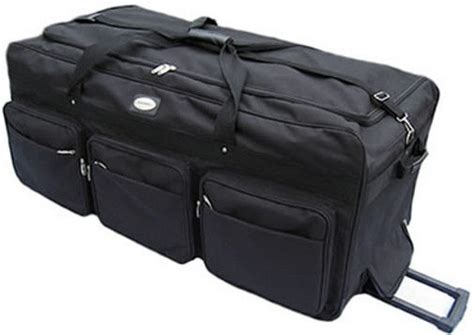united oversize baggage large 42 quot rolling wheeled duffel bags luggage free