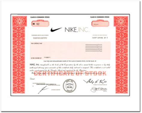real share  nike stock   minutes stock gifts  giveasharecom