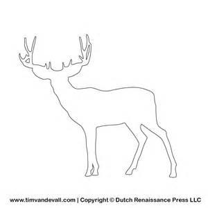 Deer Template by Tim De Vall Comics Printables For