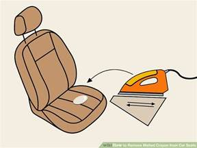 how to remove melted crayon from car seats 10 steps