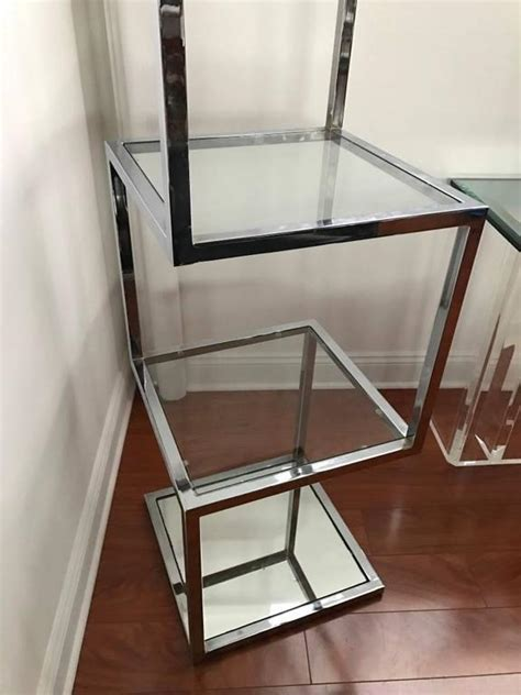 Etagere 9 Cases Leclerc by Mid Century Chrome Etagere Or Display For Sale At 1stdibs
