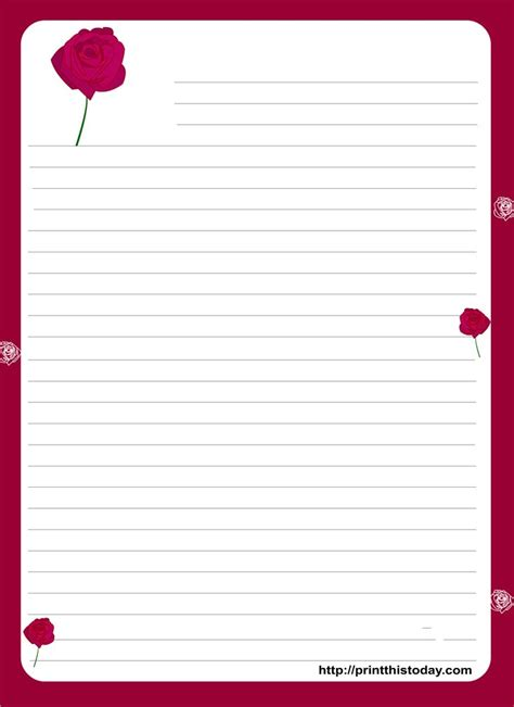 printable valentine letters 105 best images about valentines stationery on pinterest