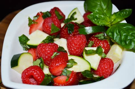 recipe vegetable fruit salad berries with zucchini and basil recipes simply delicious