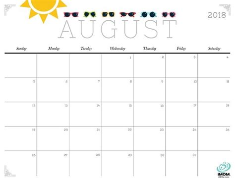 printable calendar 2018 fun cute printable calendar august 2018 yspages com