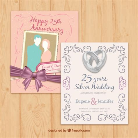 Wedding Anniversary Cards Vector Free by Different Anniversary Wedding Cards Vector Free