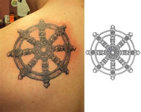 dharma wheel tattoo dharmachakra search tattoos
