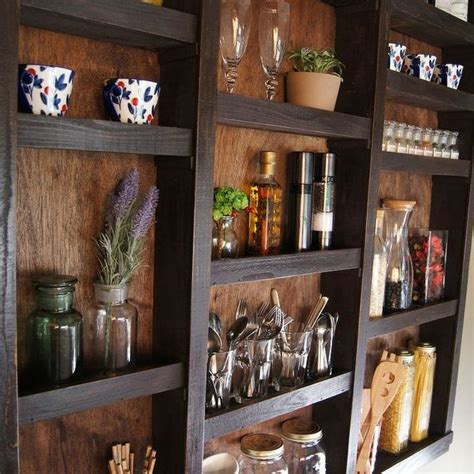 built in kitchen wall shelves closet diy kitchen design