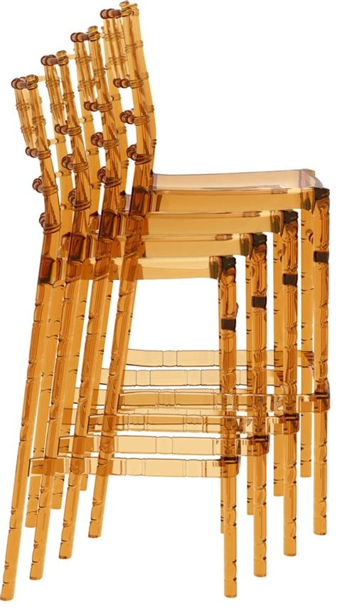 sgabelli trasparenti chiavarina 75 sgabelli bar impilabili in policarbonato