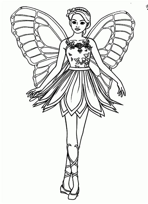coloring pages of barbie mariposa barbie fairy princess coloring pages az coloring pages