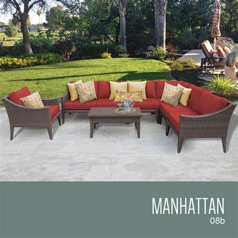 Manhattan Patio Set by Tk Classics Manhattan Collection Outdoor Wicker Patio