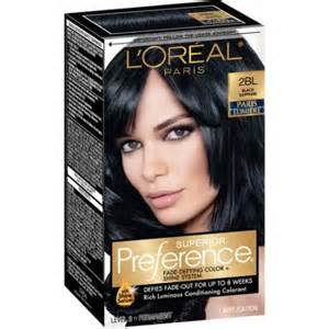 sapphire black hair color l oreal paris superior preference hair color kit 2bl