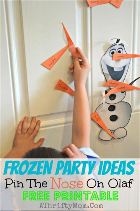 printable olaf pin the nose frozen party ideas pin the nose on olaf free printable