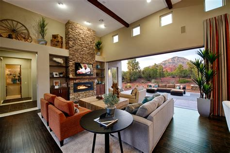 rimstone in sedona az transitional living room