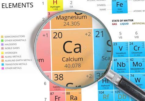 calcio tavola periodica simbolo calcio ca l elemento della tavola periodica