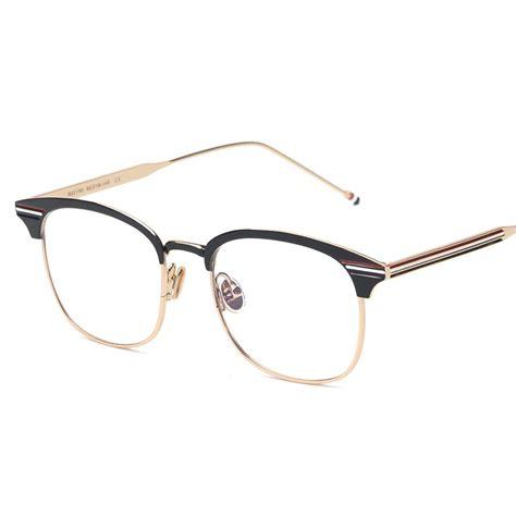 black gun silver metal vintage tb 104 eyeglasses
