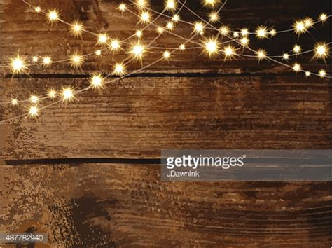 Country Floor horizontal wooden background with string lights and jars