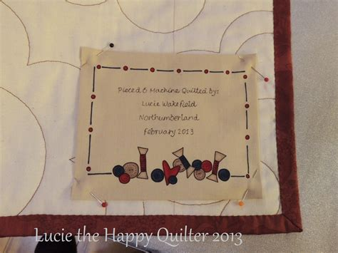Quilting Labels by Quilt Labels The Happy Quilter S