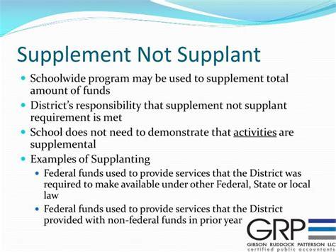 supplement not supplant ppt audit secrets revealed powerpoint presentation id