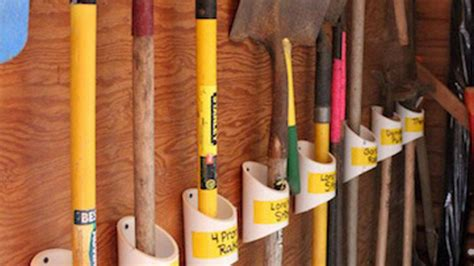 pvc pipe tool rack keep your garden tools organized with a pvc storage rack