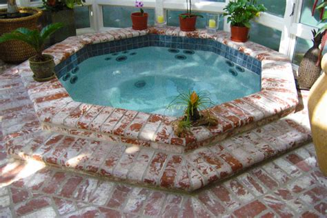 How To Build A Handrail For Outdoor Steps Inground Spa And Tub Gallery Hottubworks Spa Amp