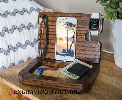 nightstand charger organizer nightstand organizer student gift personalized mens gifts