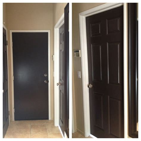 dark brown front door painted all my white doors dark brown love it black