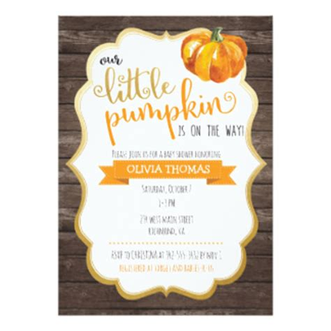 Fall Baby Shower Invites by Fall Baby Shower Invitations Announcements Zazzle