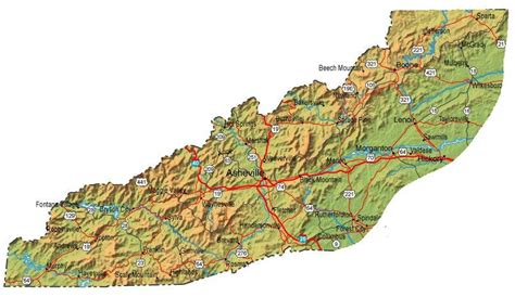 mountains in carolina map all about western carolina
