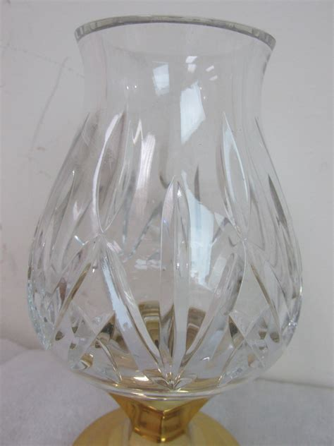 waterford crystal hurricane candle l vintage waterford crystal hurricane l candle holder w