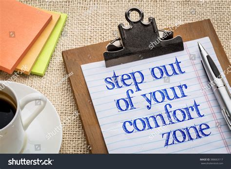 comfort text step out your comfort zone text stock photo 388663117