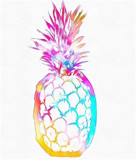 Vintage Home Decor Online by Colorful Pineapple Painting By Dan Sproul