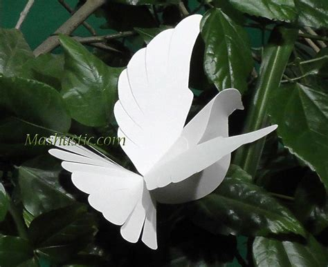 How To Make A Dove Out Of Paper - diy paper dove with a printable template mashustic