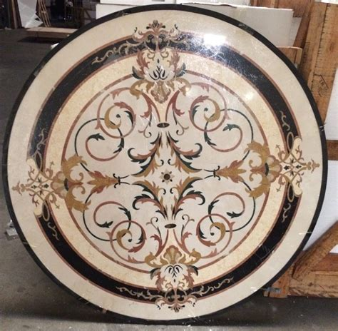 "Santa Ana Marble Medallion 60"" Round   Glamour Flooring"