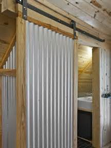 corrugated metal sliding door garage