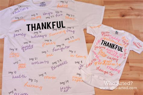 T Shirt Thankful Thankful Tees Who Arted