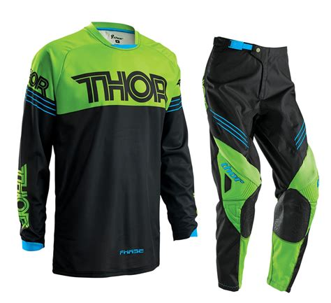 youth thor motocross gear thor 2016 youth phase hyperion gear set green motocross