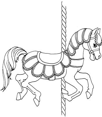 Beccy S Place Carousel Horse With Scallops Carousel Template Html